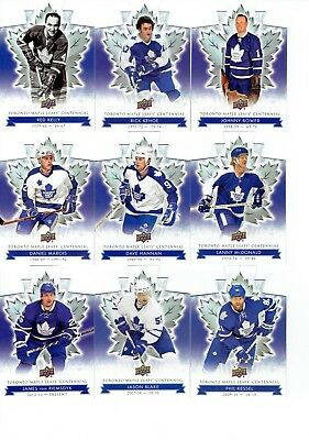 2017-18 Ud Toronto Maple Leafs Centennial Die Cuts Lot (13)