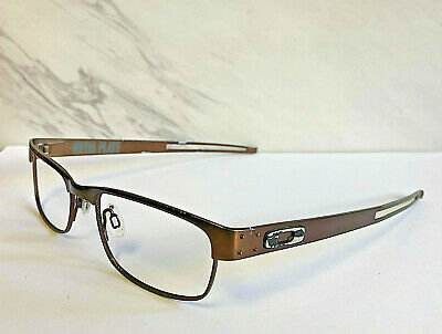 2f84cc7e192 Oakley Metal Plate Dark Brown Eyeglasses Frames (Frames Only) Used Condition