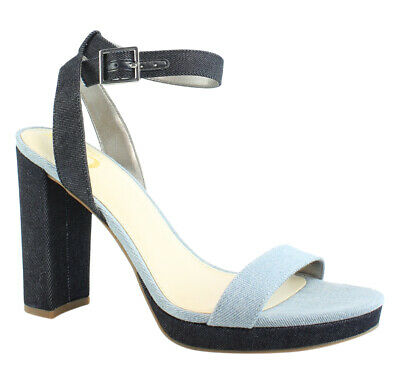 88298e5eb CIRCUS BY SAM Edelman Womens Blue Ankle Strap Heels Size 8 (44991 ...