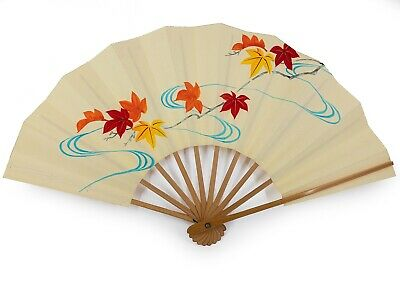 Vintage Japanese Kyoto Odori 'Maiogi' Folding Dance Fan Original Box: Feb 19-I
