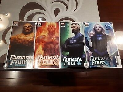 (2018) FANTASTIC FOUR #1 ARTGERM VARIANT COVER Set of 4