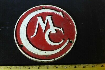 Round Cast Iron Chalmers Motor Co. Dealer Plate
