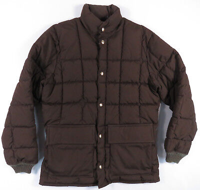 Walls Blizzard-Pruf Polyfill Brown Puffer Winter Snow Jacket Coat Vintage M