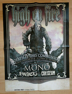 """HIGH ON FIRE Death is this Communion Tour Poster 18""""x24"""""""