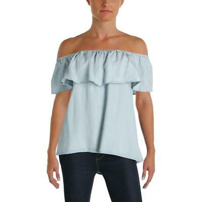 aae2a490c75b79 Sanctuary Womens Misha Blue Ruffle Butterfly Sleeves Blouse Top M BHFO 3922