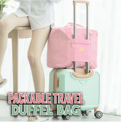 Packable Travel Duffel Bag Tote Carry on Luggage Weekender Overnight Sport Bag