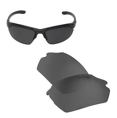 New Walleva Black Mr.Shield Polarized Replacement Lenses for Smith Parallel Max