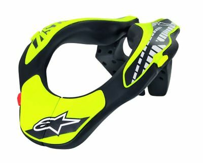 Alpinestars Youth Neck Support collar Protection Helmet Black & Yellow NEW 2018