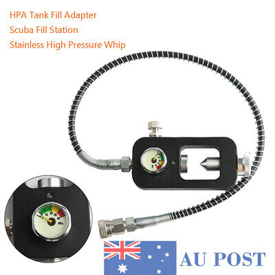 Scuba Refill Station With High Pressure Hose HPA Tank Fill Adaptor For Diving