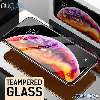 Apple iPhone XS Max XR 8 7 NUGLAS FRONT AND BACK Tempered Glass Screen Protector
