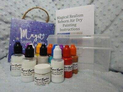 "30ml "" Large SIze"" Newborn Painting Starter Kit Air Dry Magical Realism Reborn B"