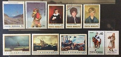 World Stamps Romania 1970-80-90 10 Stamps Mix Fine CTO Stamps (B4-12)