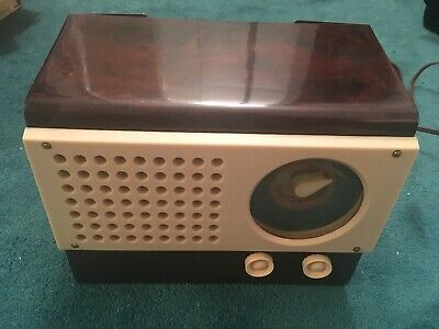Vintage antique Emerson tube radio, works!  AM band only, early 1950s