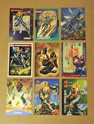 Longshot, X-Men, Marvel card lot