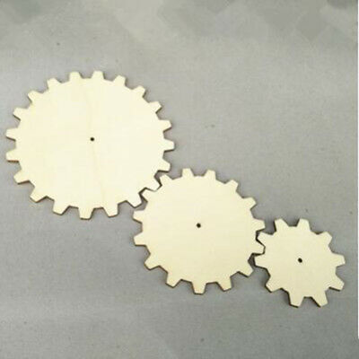 10 Pcs Unfinished Wooden Gear Blank Wood Cutout Heart Slices Discs DIY Craft 6A
