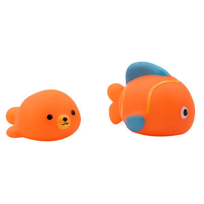 Floating Animals Bath Toys Squeeze Sound Squeaky Baby Bathing Toys 6A