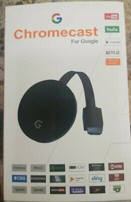 Google - Chromecast (Latest Model) HD Streaming Media Player - Charcoal