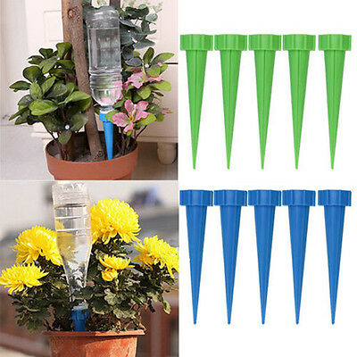 12X Garden Automatic Cone Watering Spike Plant Flower Waterer Bottle Irrigation