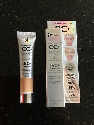 it cosmetics cc cream SPF 50 Anti-Aging Hydratin Serum - Medium Travel Size 12mL