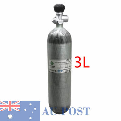 PCP Airsoft Shooting 3L 300bar 4500psi Gas Cylinder Scuba Tank W/Valve Outdoor