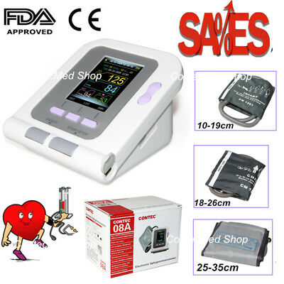 Digital Smart Color LCD blood pressure monitor CONTEC08A,adult,child,infant cuff