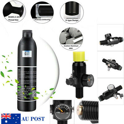 For Climbing Provide Oxygen 0.35L Air Bottle With Regulator Valve 2800psi Output