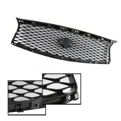 High Gloss Black Out Front Mesh Upper Grill Replacement Fit For14-17 Infiniti Q5