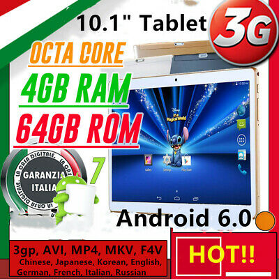 "TABLET 10.1"" IPS 3G OCTA CORE! 2.0GHz 4GB RAM 64GB ROM ANDROID 7_DUAL SIM!!! pc"