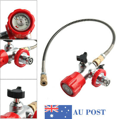 For Air Tank PCP Air Filling Station Red Valve Gauge Thread G5/8 With Hose AU
