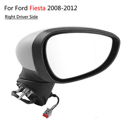 Right Driver Side N/S Electric Primed Door Wing Mirror for Ford Fiesta 2008-2012