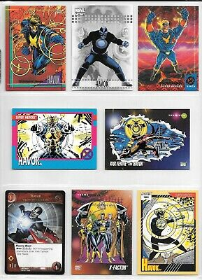 Havok, X-Men, Marvel card lot