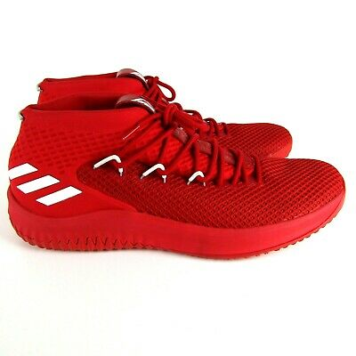 1c19964c7953 Adidas Dame 4 Lillard Scarlet Red White Men s Basketball Shoes Sz 19 B76013