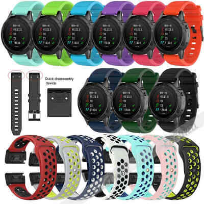 FOR GARMIN FENIX 3/Fenix 5 5X/5S Plus Watch Silicone Watch Band Strap  Quickfit
