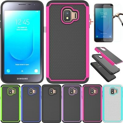 For Samsung Galaxy J2 Core/Dash/Pure Shockproof Armor Hard Case+Tempered Glass