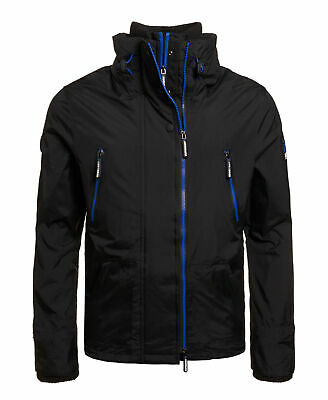 New Mens Superdry Unique Sample Technical Windattacker Jacket Size Large Black