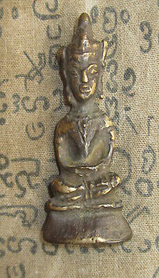 Very Rare Blessed Old Phra Chai Ayuttaya Top Magic Lucky Powerful Buddha Amulets