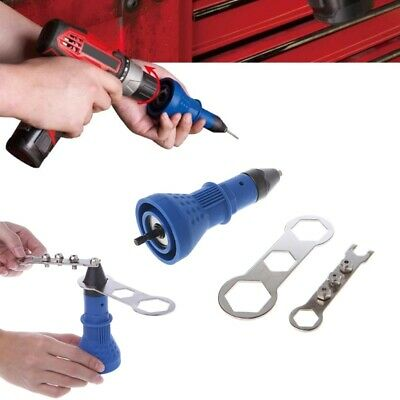 Electric Rivet Gun Tool Nut Riveting Insert Hand Pop Drill Cordless Heavy Duty