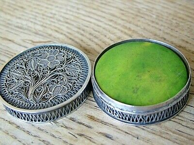 Antique Georgian English Solid Silver Gentleman's Pocket Gaming Counter Box Nr