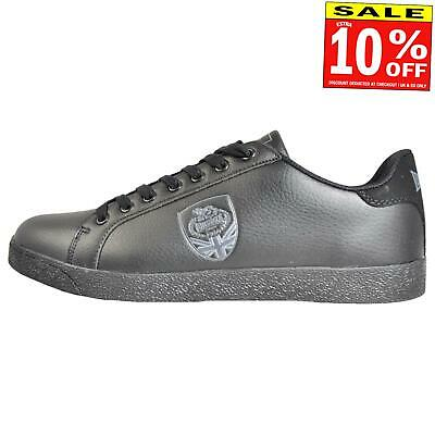 Lonsdale Lowton Classic Men's Casual Retro Court Trainers Black
