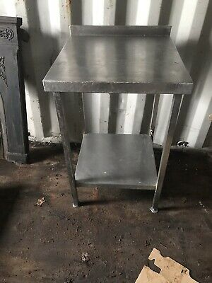 Stainless Steel Solid Work Table Kitchen Butchers Bakers with under shelf.