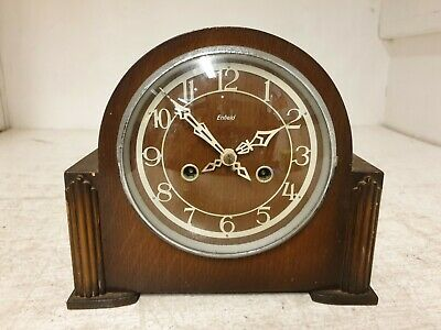 Enfield Mantle Wooden Automatic Winding Wall Clock USED Good Condition (Z1)