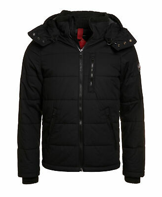 New Mens Superdry Unique Sample Bluestone Jacket Size Small Black