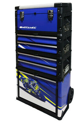 Motamec Modular Tool Box Trolley Mobile Cart Cabinet Chest Yamaha Racing VR C41H
