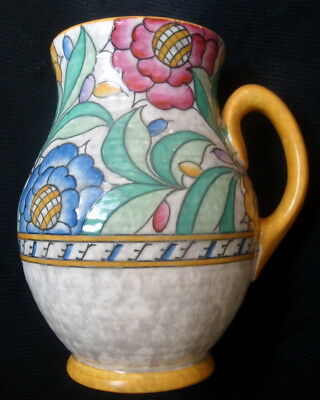 Art Deco Crown Ducal Pottery Charlotte Rhead Persian Rose Jug