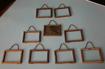 Lot De 9 Cadres Photo  Anciens En Bronze Dore