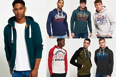 New Mens Superdry Hoodies Selection - Various Styles & Colours 181218