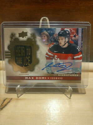 2017-18 Ud Canadian Tire Max Domi Heir To The Ice Auto Signed - 1:15,559 Group A