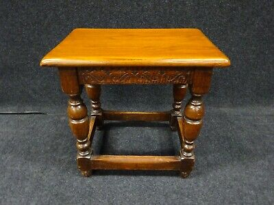 Antique Oak Coffee Table Foot Stool Early 20th Century