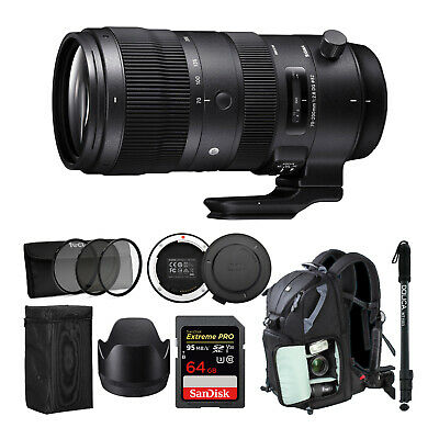 Sigma 70-200mm f/2.8 DG OS HSM Sport Lens for Canon with Sigma USB Dock Bundle