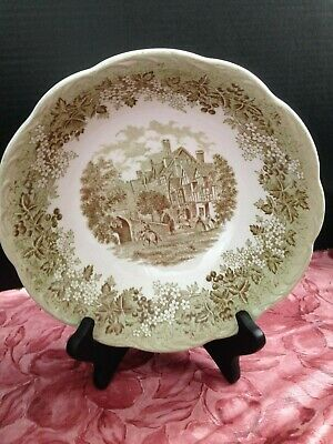 J & G MEAKIN Romantic England Green Leicester Hospital Serving Bowl